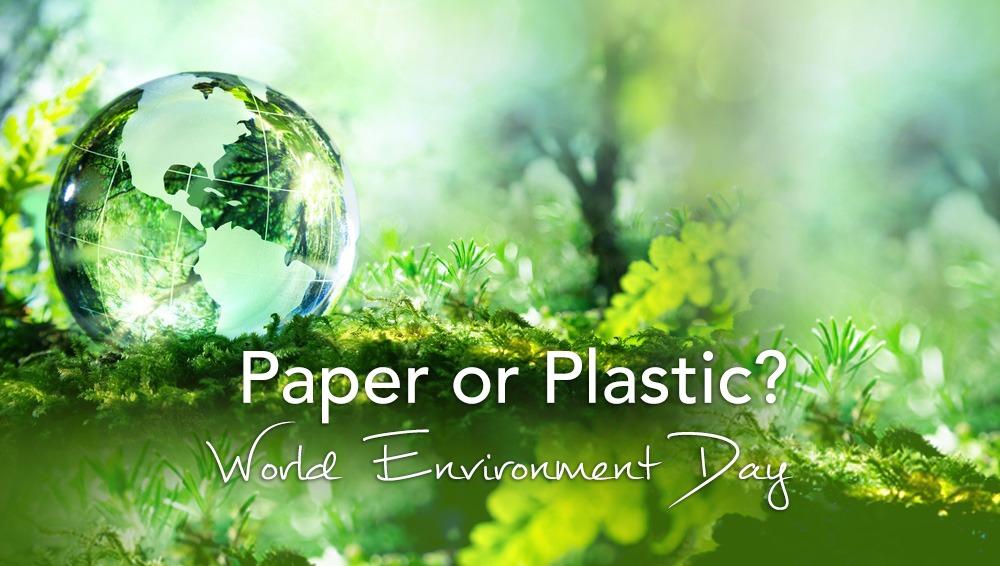 Hartie sau plastic mediului